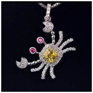 Jewelry - Swarovski Crystals The Elasa Crab Necklace